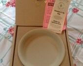 Vintage New Pampered Chef Stoneware Pie Plate 9 inch In Box 1996 Bakeware Cookware Kitchen Baking Stone Pie Pan
