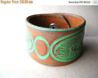 Valentines Day Sale Leather Cuff Bracelet - Rustic Cuff Bracelet - Leather Bracelet