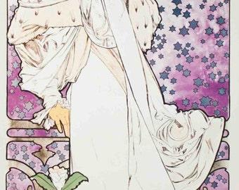 Alphonse Mucha- La Dame aux Camelias (1993) SKU: YY6679