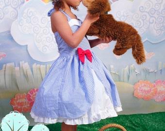 Dorothy Inspired Dress, Co-play, Disney, School Play, Costume, Birthday, Dress-up, Children Sizes Wizards of OZ