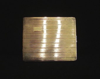 Vintage Cigarette Case Business Card Case Alpacca Silver Art Deco Cigarette Case 1950s Made in Germany Excellent Condition