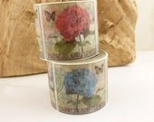 30mm Wide  Butterfly and Flowers Print  Washi Tape - 1455