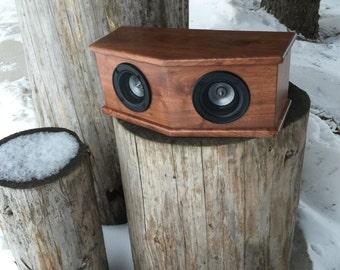 Walnut Wood Audio Speaker Set