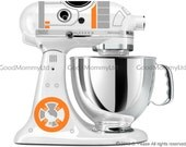 BB8 Decal Kit for your KitchenAid Stand Mixer - Star Wars Inspired