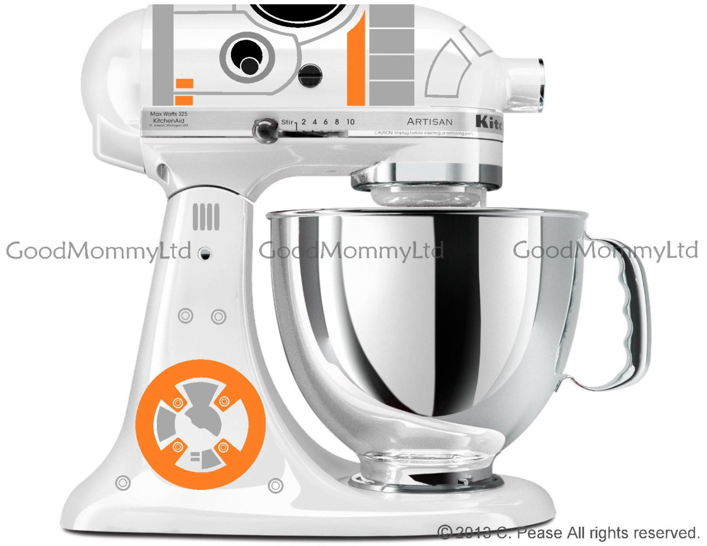 Kitchenaid Mixer Decals ~ Bb decal kit for your kitchenaid stand mixer star wars
