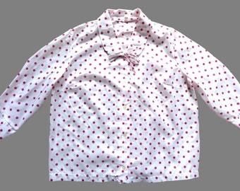 Vintage 80's Polka Dot Blouse UK 18 - 20