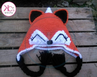 Bonnet earmuffs Fox