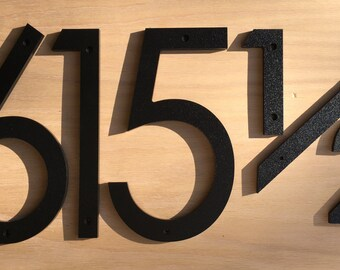 """6"""" Modern House Numbers Letters black or white"""