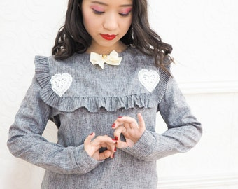 Grey Frill Blouse