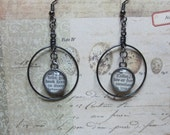Book Lover Dictionary Page Earrings, Book Lovers Earrings