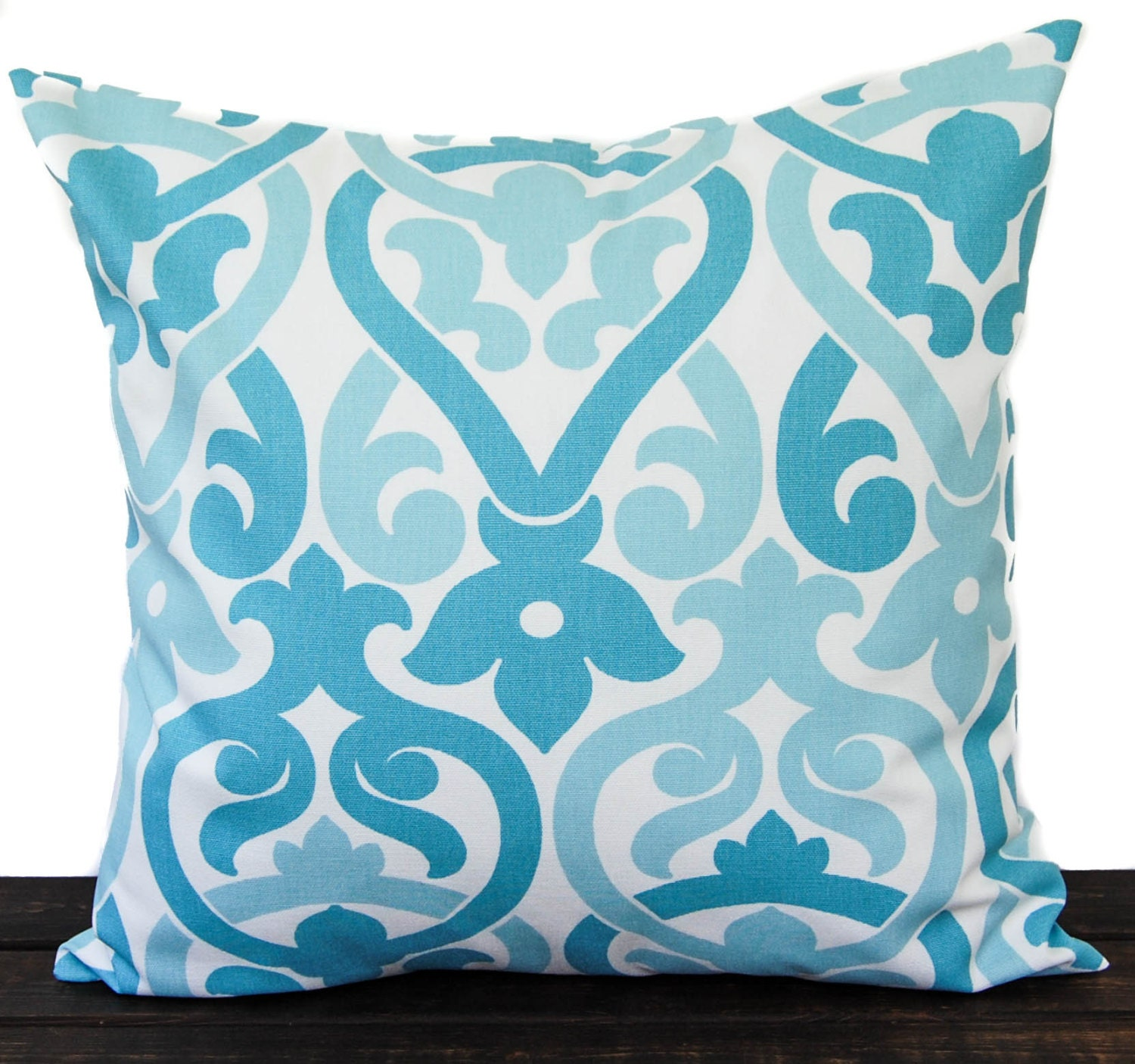 Coastal Decorative Pillow Covers : Throw pillow cover Coastal Blue and white cushion cover