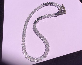 Clear and Metallic Swarovski Crystal Necklace