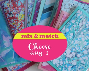 3/For Notecards - Mix and Match - Choose Any 3