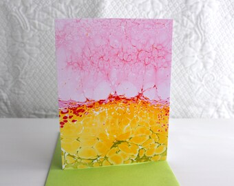 Curiosity Notecard Print - Single Card with Envelope - Marbled Print