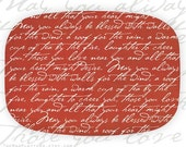 All that your heart might desire red melamine platter