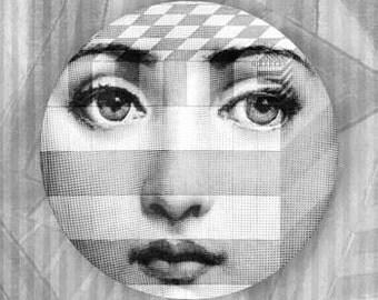 square, Lina Cavalieri melamine plate