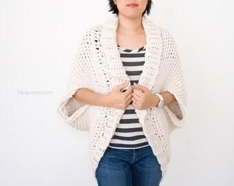 Tunisian Knit Stitch Starlight Shrug Crochet Pattern