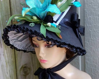 Aqua Lily Regency Bonnet