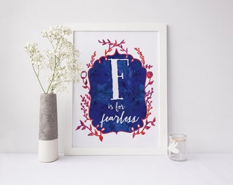 F is for Fearless - signed Sarcastic Alphabet print