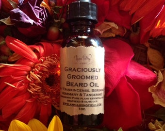 Graciously Groomed Beard Oil (in 1oz amber glass bottle with black dropper)