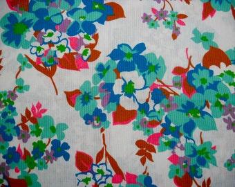 Retro Fabric, Fab Floral Design, Small Piece