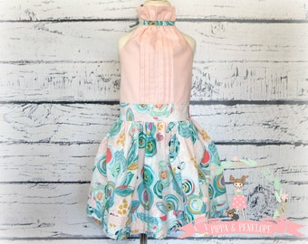 Little Girl Dress, Girls Boutique Dress, Little Girl Dresses, Girls Party Dress, Birthday Dress, OOAK, Vintage Inspired Dress, Size 6