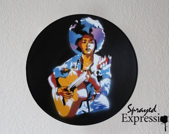 Lauryn Hill Vinyl Record Painting