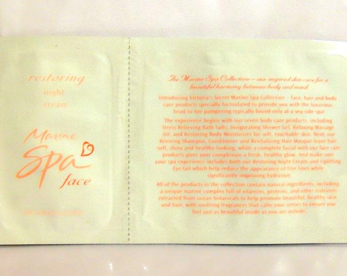 Vintage 1990s Victoria's Secret Marine Spa Face  Restoring Night Cream Sample Packet