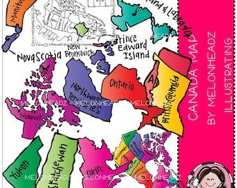 Canadian Map clip art