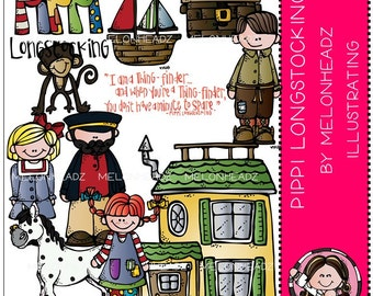 Pippi Longstocking clip art - COMBO PACK