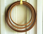Vintage Embroidery Hoops Wood and Metal Supplies Mixed Media Art Work