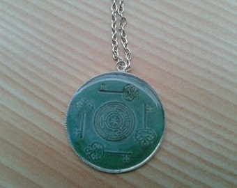 Hecate's wheel pendant. Power emotion intuition psychic faculty energy wisdom