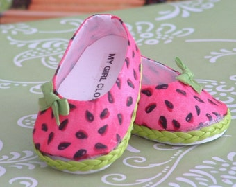 Watermelon Ballet Flats for American Girl