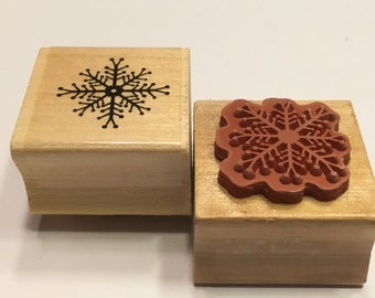 Snowflake rubber stamp, 25 mm (BB1/4)