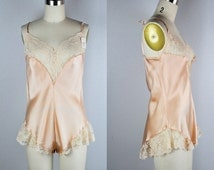 Vintage VALENTINO Lace & Silk One Piece Bodysuit Lingerie Teddy Negligee I-MAGNIN Deadstock Sexy Romantic Wedding Bride Gift size 4 - 38 B