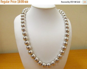 ON SALE MONET Silver Tone Chunky Beaded Necklace Item K # 2867