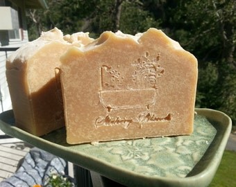 Milk soap bar with clary sage and tea tree