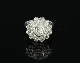 Delightful Art Deco 95 Ct G VS diamond cluster ring