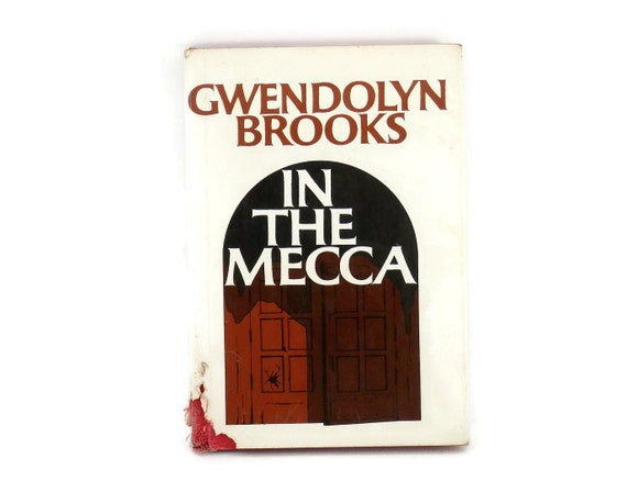 Poetry Book Cover Name : Signed gwendolyn brooks in the mecca poetry book hard cover