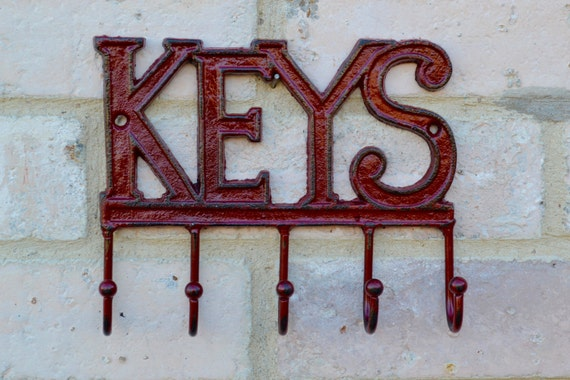 Metal Wall Decor Clearance : Clearance sale maroon leash hooks key holders wall