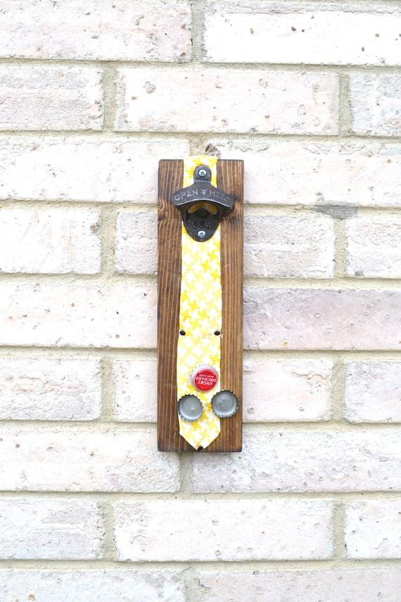 Mens Wall Art mens necktie bottle opener gift mens wall art magnetic wood