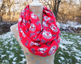 Boston Red Sox MLB Baseball GameDay Infinity Scarf 10x70 double loop