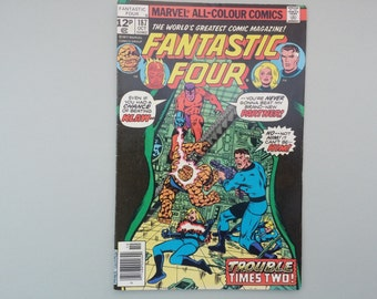Fantastic Four issue 187 / 1977 / Vintage Bronze age Marvel comic / Stan Lee & George Perez