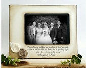 Wedding  Distressed Vintage Picture 4x6 5x7 Thank you Parent loving family  Photo Frame - Personalized Gift  Parents Poem Custom Personalize