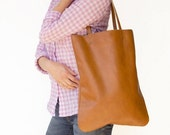 Brown Leather Bag, Leather Tote Bag, Women Leather Bag