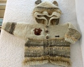 Soft and Cozy Baby Puppy Hoodie Cardigan Sweater