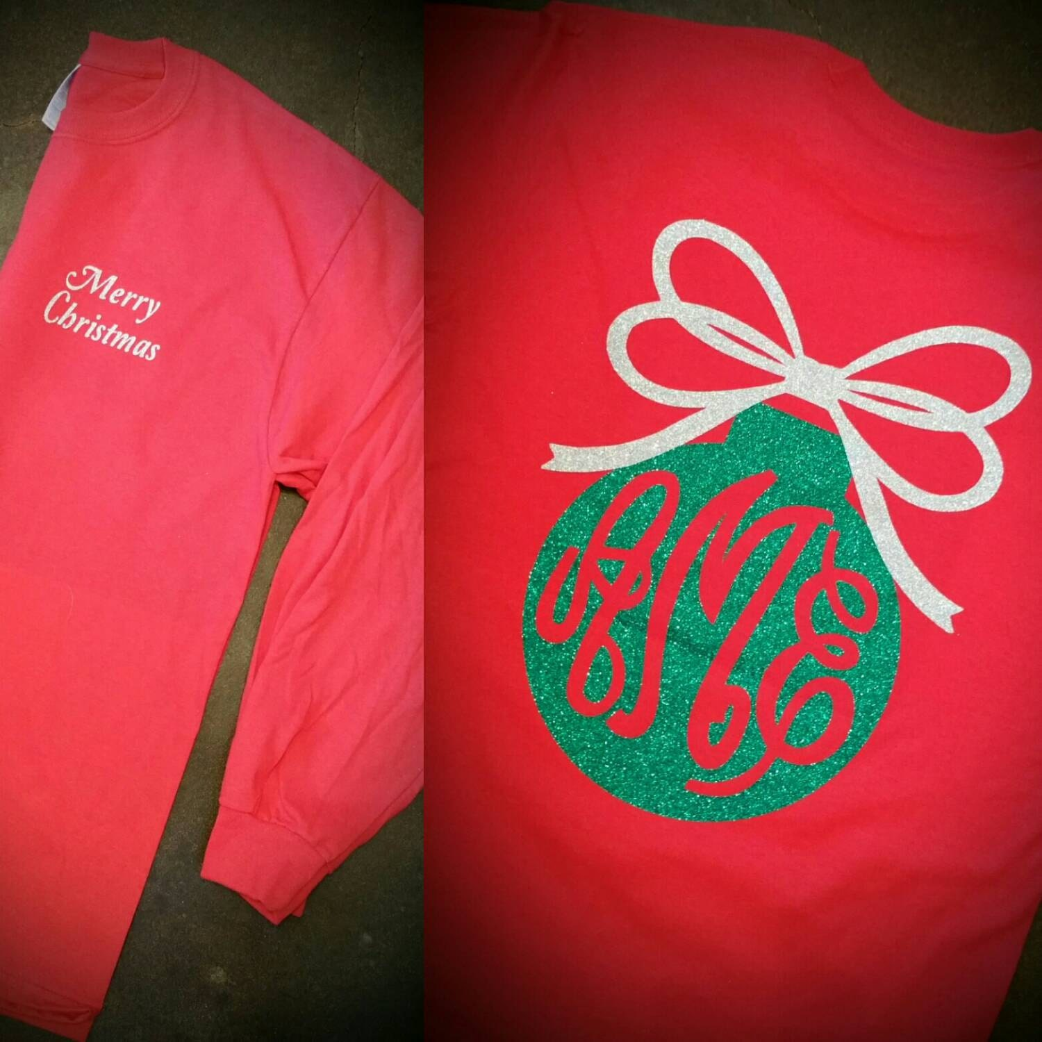 Happy Holidays Christmas T Shirt Monogram By Gibsonsgallery