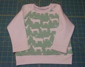 Organic Baby Top Toddler Tee long sleeves toddler shirt toddler - size 12-18 months Deer Birch Organic cotton interlock