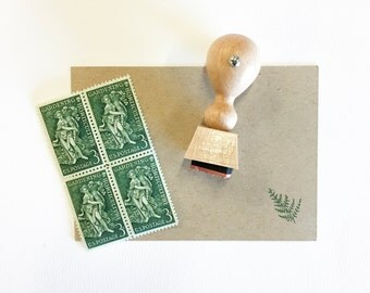 Fern Rubber Stamp - hand drawn rubber stamp - fern - nature stamp - mini fern stamp - ready to ship - botanical stamp K0063