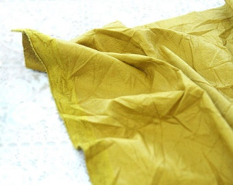 Fake Leather Fabric, Imitation Leather, Artificial Leather, Synthetic Leather Fabric - Mustard - 55 Inches Wide - By the Yard 83103